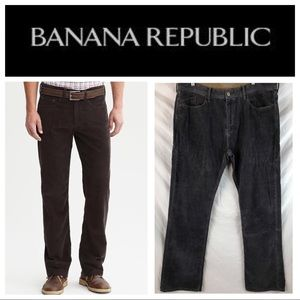 Banana Republic Gray Straight Fit Corduroy 36x34